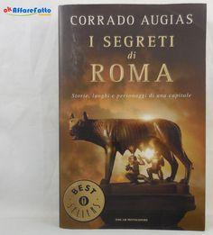 J 5748 LIBRO I SEGRETI DI ROMA DI CORRADO AUGIAS RISTAMPA DEL 2009…