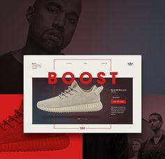 Adidas Yeezy Microsite on Behance