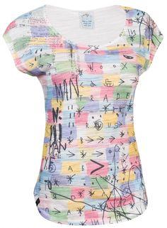 Notatio Grafo - Až do vás bude chlapík na baru hučet, že jste nepopsatelně krásná, sundejte svetr a ukažte mu Notatio Grafo. Ať vidí, že krásná ano, ale popsatelně. Peplum, How To Make, Tops, Women, Fashion, Moda, Fashion Styles, Shell Tops, Fashion Illustrations
