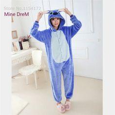 Kigurumi Blue stitch onesies Pajamas Cartoon Animal cosplay Pyjamas Adult Onesies  costume party dress Halloween pijamas 380a2f81e