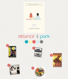Inspied by Eleanor & Park - Eleanor & Park color palette Eleanor And Park, Rainbow Rowell, Inspiration Boards, Misfits, Party Time, Palette, Books, Color, Libros