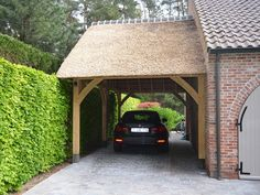 Gallery carport of a semi-detached house - Zimmerei Zeller GmbH - draftGallery carport of a semi-detached house Zimmerei Zeller GmbHOak Framed Garages and Timber OutbuildingsOak Framed Garages and Timber Simple Garage Design Ideas For Carport Designs, Garage Design, Pergola Designs, Exterior Design, Carport Garage, Car Garage, Garage Doors, Modern Carport, Building A Porch