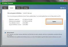 mengupdate antivirus mse