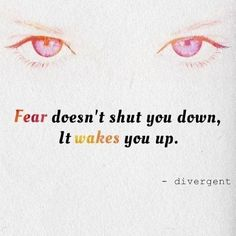 •fear doesn't shut you down it wakes you up•