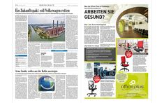 Office Plus Freiburg: Produktanzeige in der »Badischen Zeitung«