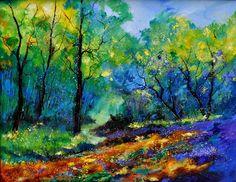"Saatchi Online Artist: Pol Ledent; Oil, 2013, Painting ""Magic forest"""