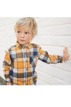 Ochre Long Sleeve Check Shirt (3mths-6yrs)