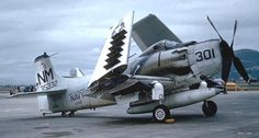 Skyraider with folded wings