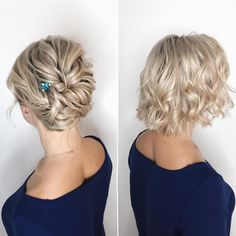 20 Wedding Hairstyles for Medium Length, Once the announcement is made, you are a bride-to-be. Let's us help you too choose a fascinating wedding hairstyle for your special day., Hairstyle Ideas 20 Wedding Hairstyles for Medium Length Cute Medium Length Hairstyles, Medium Hair Styles, Curly Hair Styles, Short Hair Wedding Styles, Wedding Hair For Short Hair, Medium Length Updo, Trendy Wedding, Shoulder Length Updo, Hair Medium