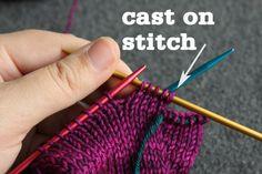 Let's Knit some super simple mittens – Tin Can Knits Knitted Mittens Pattern, Knit Mittens, Cardigan Pattern, Knitted Gloves, Knitting Patterns, Knitting Tutorials, Fingerless Gloves, Crochet Mask, Knit Crochet
