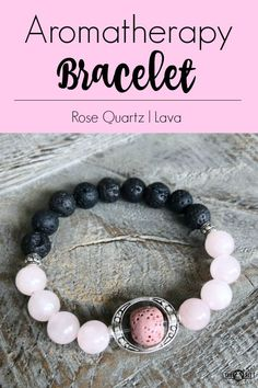 Charming Rose Quartz and Lava Aromatherapy Bracelet with Pink center lava bead. Making Bracelets With Beads, Bracelet Making, Jewelry Making, Beaded Jewelry, Handmade Jewelry, Boho Jewelry, Jewelry Bracelets, Handmade Beaded Bracelets, Jewelry Trends