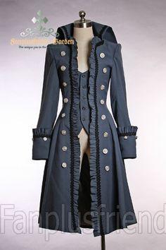 Pirate Lolita/Gothic Prince/Ouji High Collar Unisex Coat
