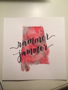 Alabama state watercolor painting Rammer Jammer by wesleyloft, $15.00