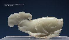 白玉鱼龙 清 天津博物馆藏 White-jade Fish-dragon/The Qing Dynasty(1644-911)/Tianjin Museum Jade Stone, Dragon, Fish, Legs, Pisces, Dragons