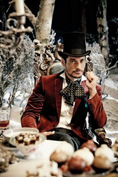 David Gandy - Mad Hatter in the Mark and Spencer 2013 Christmas Advert
