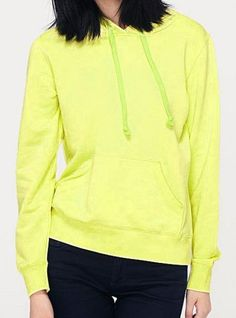 Fluorescent Green Collision Energy Turtleneck Sweatshirt$51.00