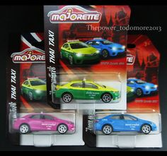 3 Majorette Diecast Model Car Toyota Altis Thai Taxi Collection Unique item 2017 #Majorette #TOYOTA