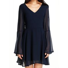 $12.25 Sexy V Neck Long Sleeve Solid Color Cut Out Women's Dress