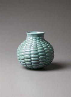 AXEL SALTO, Rare and early horizontal 'Budding' vase, late 1940s