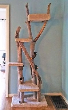 homemade wooden cat trees - Google Search