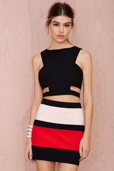 Anessa Striped Skirt