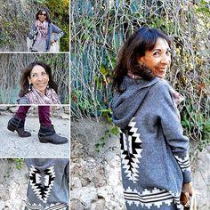 #post #dujour#veste #azteque #capuche #chaude #douillette #originale #blackandwhite #bottinesgrises #asangles #cheche #bordeaux #slim #bordeaux #chemise #rayures #mixandmatch #babou #graindemalice #jennyfer #blogueusedusud #liveloveandcook #☀️❤️