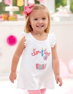 9db9296fccc91 Mud Pie Birthday Girl Tunic | Second Birthday T-Shirt | Girls Cupcake  Birthday Shirt