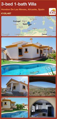 3-bed 1-bath Villa in Hondon De Las Nieves, Alicante, Spain ►€135,487 #PropertyForSaleInSpain