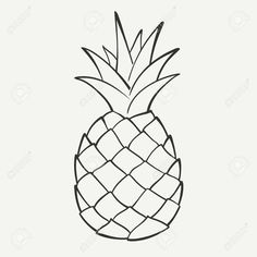 Illustration of Outline black and white image of a pineapple vector art, clipart and stock vectors. 1000 images about Canvas in black pineapple clipart collection - ClipartFox - Millions of Creative Stock Photos, Vectors, Videos and Music Files For Your I Pineapple Drawing, Pineapple Tattoo, Pineapple Painting, Pineapple Clipart, Pineapple Images, Pineapple Art, Illustration Tattoo, Fruit Illustration, Pencil Drawings
