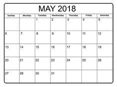 May 2018 Calendar, 2018 Calendar Template, Clip Art, Printables, Templates, Holidays, Words, Stencils, Holidays Events