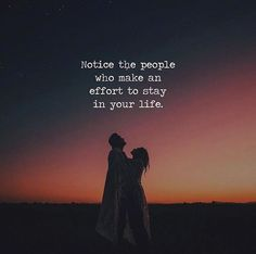 Notice the people who make an effort..