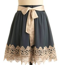 lengthen a skirt with some chunky lace
