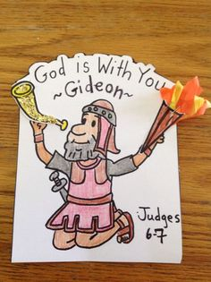 Gideon craft. This craft will help you prepare your Sunday school lesson on Judges 6:11 - 8:32 on the Bible story of Gideon.