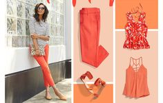 I can't help but smile when I see this Poppy colored inspired look from Stitch Fix! Perfect for summer!