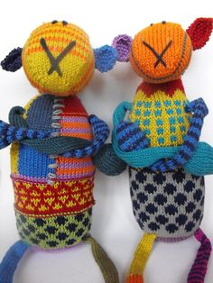 sheep Elisabeth and sheep Margaret - hand knitted  £28.00