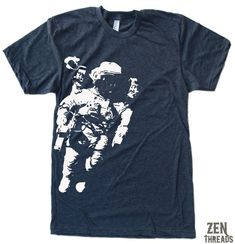 344257b5e9fa Mens SPACEMAN T Shirt custom color printed tee