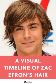 From his signature Troy Bolton style to his platinum blonde 'do, keep reading for a detailed look at Zac Efron's hair evolution. Boy Haircuts Long, Boys Long Hairstyles, Celebrity Hairstyles, Hairstyle Short, Medium Hair Cuts, Long Hair Cuts, Medium Hair Styles, Curly Hair Styles, Zac Efron Long Hair