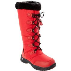Baffin Baffin Women's Miku Series Eska Boot ($73) ❤ liked on Polyvore featuring shoes, boots, mid-calf boots, red, calf length boots, baffin, red boots and red mid calf boots
