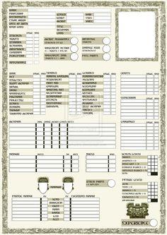 rpg sheets | Rpg character sheet page 1 by marhadris