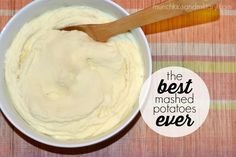 The finished product: mashed potatoes - a super easy recipe for creamy tasty potatoes!