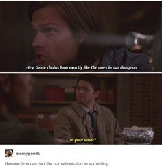 When Sam confused the heck out of Castiel and then this is what Cass show off