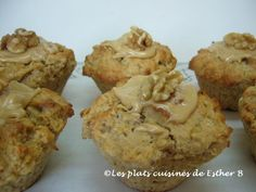 Les plats cuisinés de Esther B: Muffins aux bananes et à l'érable Muffins, Esther, Biscuits, Sugar, Breakfast, Cake, Desserts, Recipes, Food