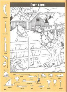 Hidden Pictures: Horse Puzzles Kids Travel Activities, Library Activities, Fun Activities, Hidden Picture Games, Hidden Picture Puzzles, Find The Hidden Objects, Find Objects, Puzzles And Answers, Highlights Hidden Pictures