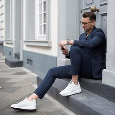 hoganbrand: @sandroisfree adds an impeccable white touch to his look wearing #HOGAN #SS16 #Interactive #N20 #sneakers Join the #HoganClub #lifestyle and share with us your @hoganbrand pictures on Instagram