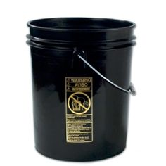 Black 5 Gallon Standard Bucket.  $4.91 + bulk discounts