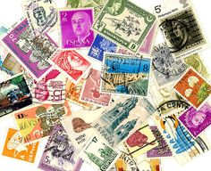 World postage stamps scrapbooking by gracealleytreasures on Etsy, $2.25
