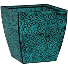 "Robert Allen Home and Garden Square Planter Box Color: Bluemoon, Size: 10"""