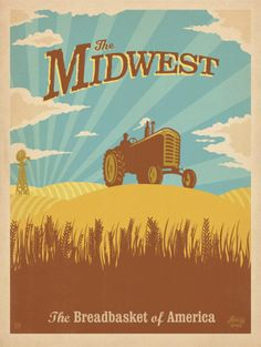 The Midwest travel poster