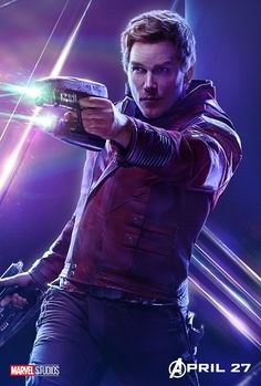 """""""Avengers: Infinity War"""" character movie poster, Chris Pratt as Peter Quill / Star-Lord. Marvel Avengers, Star Lord Avengers, Avengers Film, Marvel Dc Comics, Marvel Heroes, War Comics, Marvel Infinity, Avengers Infinity War, Movie Posters"""