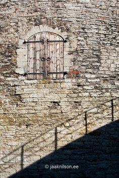 Wooden door in Kiek in de Kök cannon tower in Tallinn, Estonia.